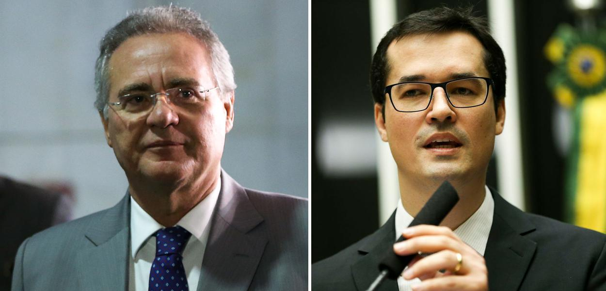 Renan Calheiros e Deltan Dallagnol