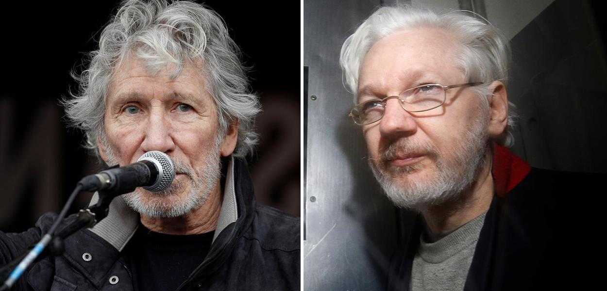 Roger Waters e Julian Assange