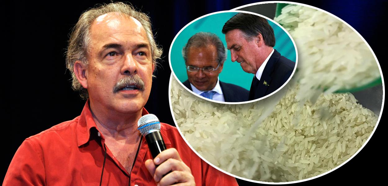 Aloizio Mercadante, Bolsonaro com Paulo Guedes e arroz