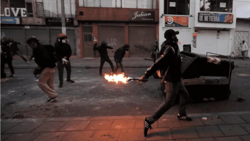 Protesto em Bogotá