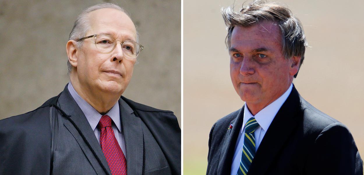 Ministro Celso de Mello e Jair Bolsonaro