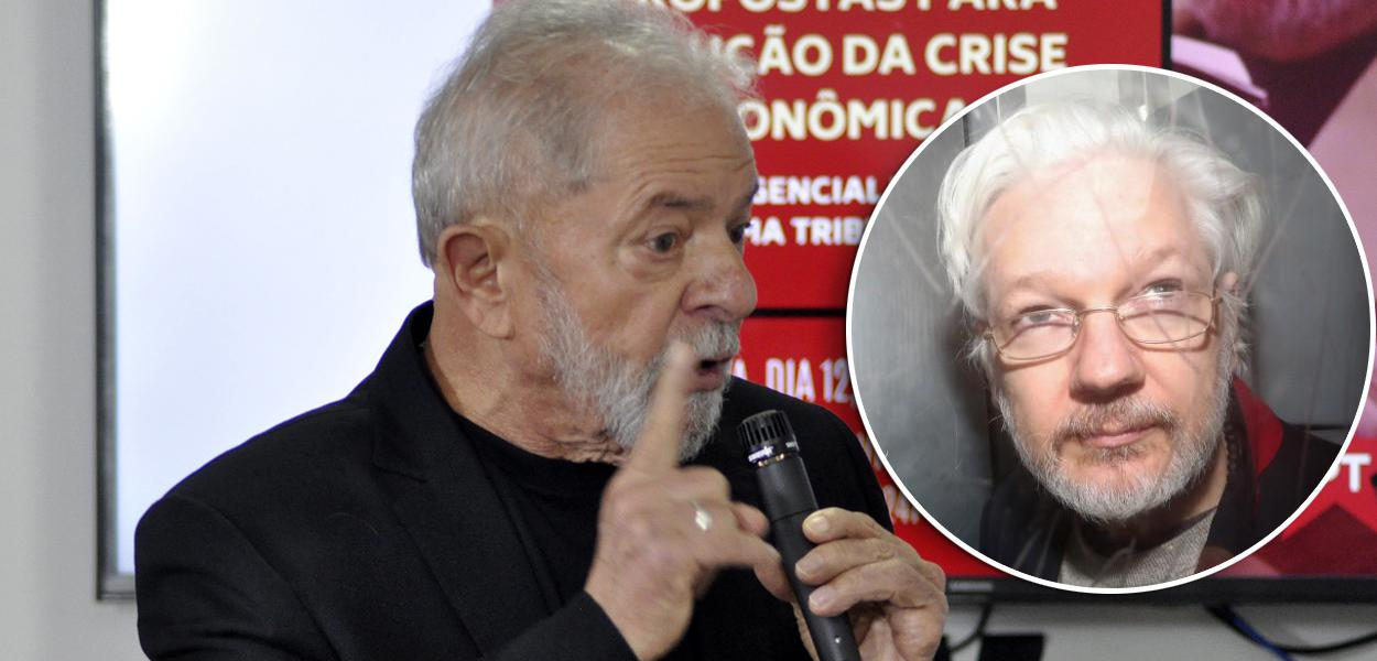 Lula e Julian Assange