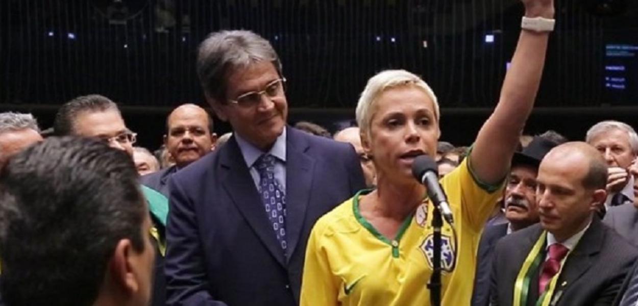 Cristiane Brasil e Roberto Jefferson