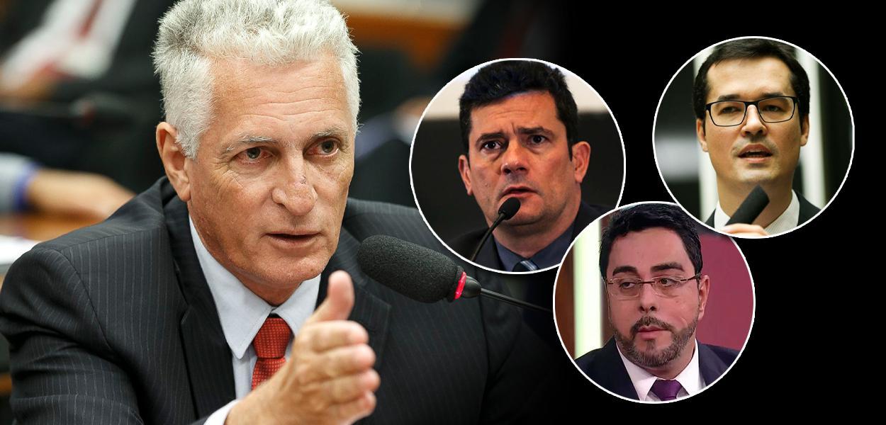 Rogério Correia, Sergio Moro, Marcelo Bretas e Deltan Dallagnol