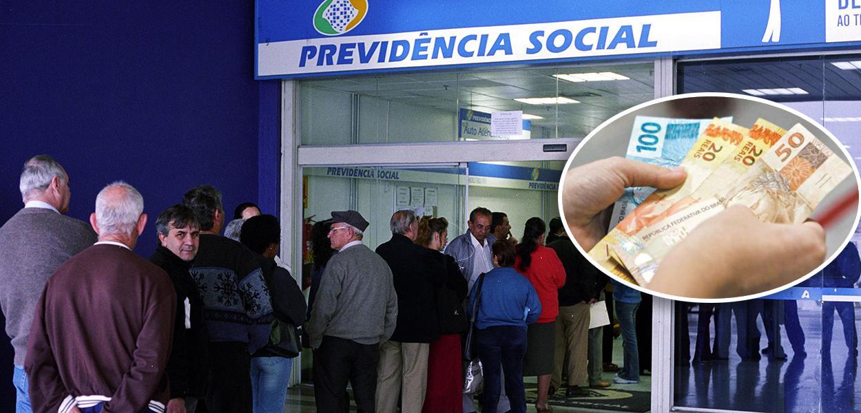 Fila de pessoas na Previdência Social