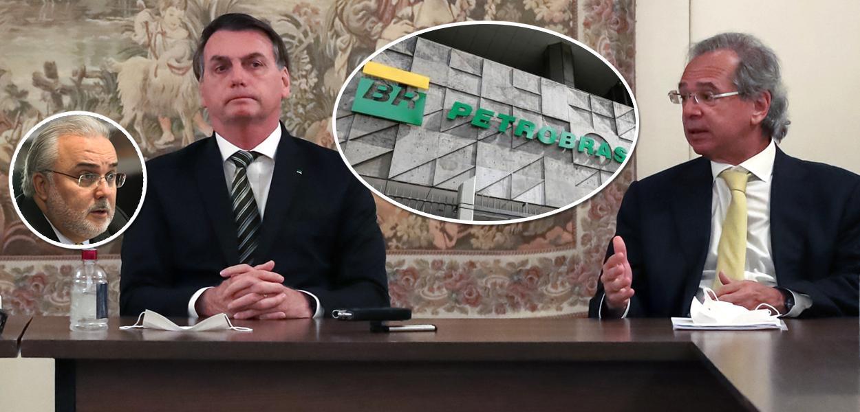Senador Jean Paul Prates, Bolsonaro com Paulo Guedes e fachada da Petrobras
