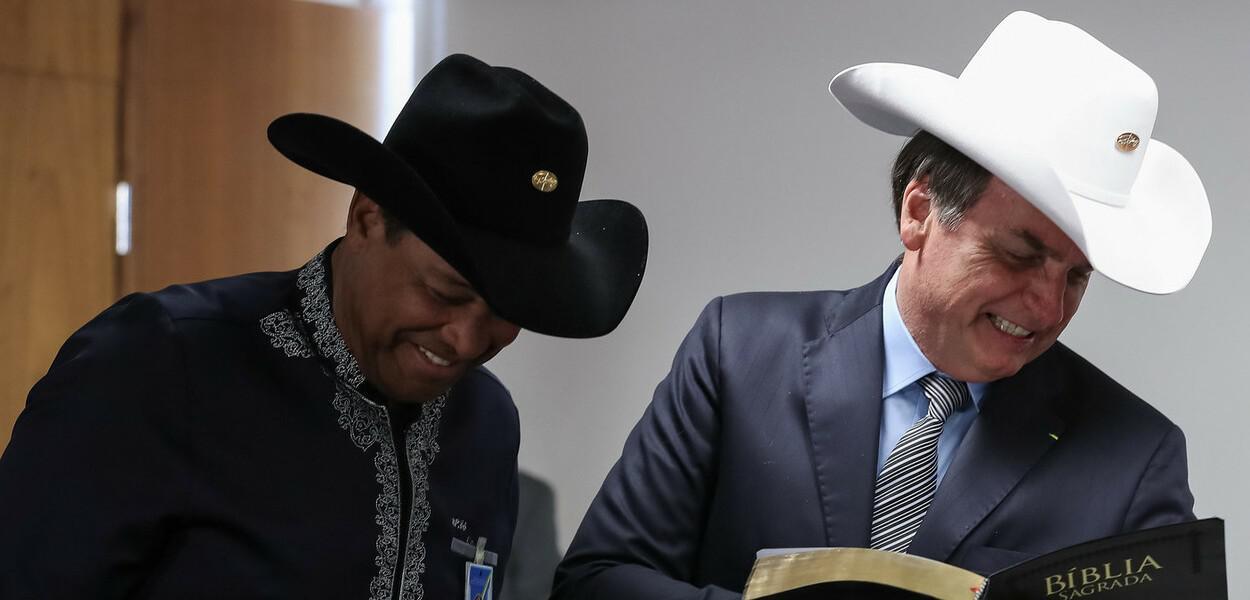 Valdomiro Santiago e Jair Bolsonaro