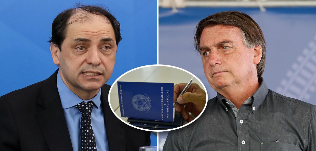 Waldery Rodrigues, carteira de trabalho e Jair Bolsonaro