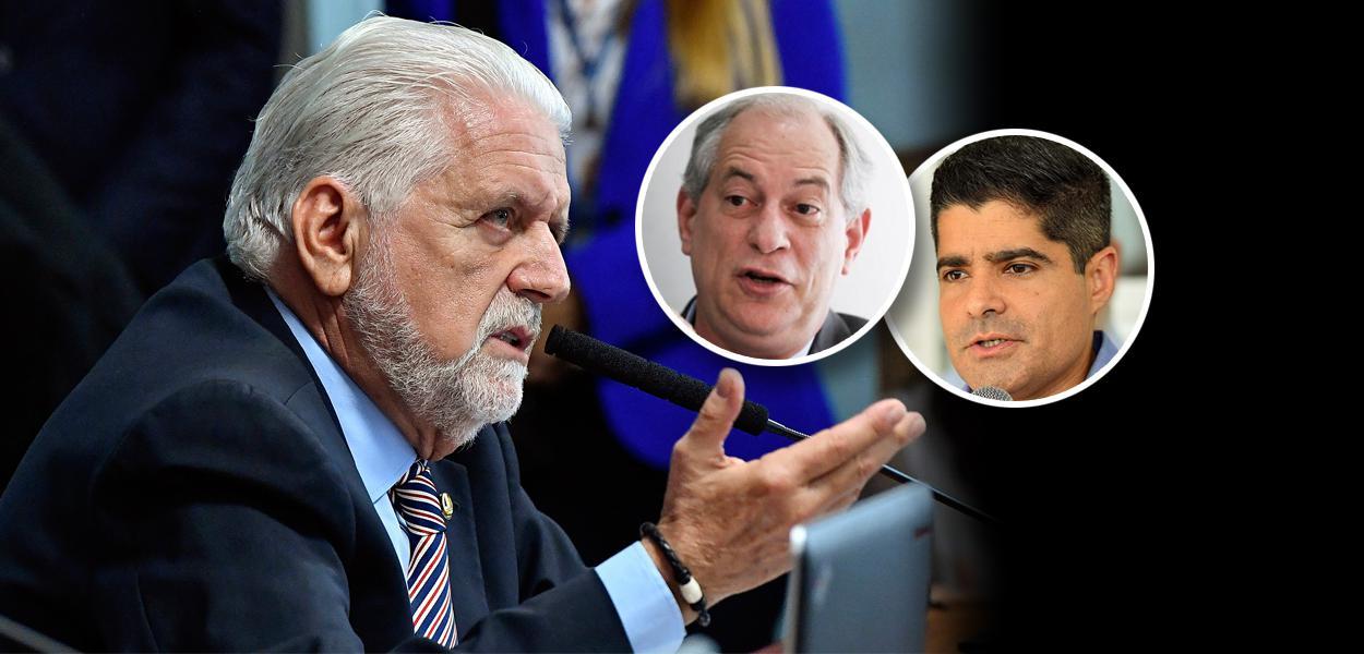 Jaques Wagner, Ciro Gomes e ACM Neto
