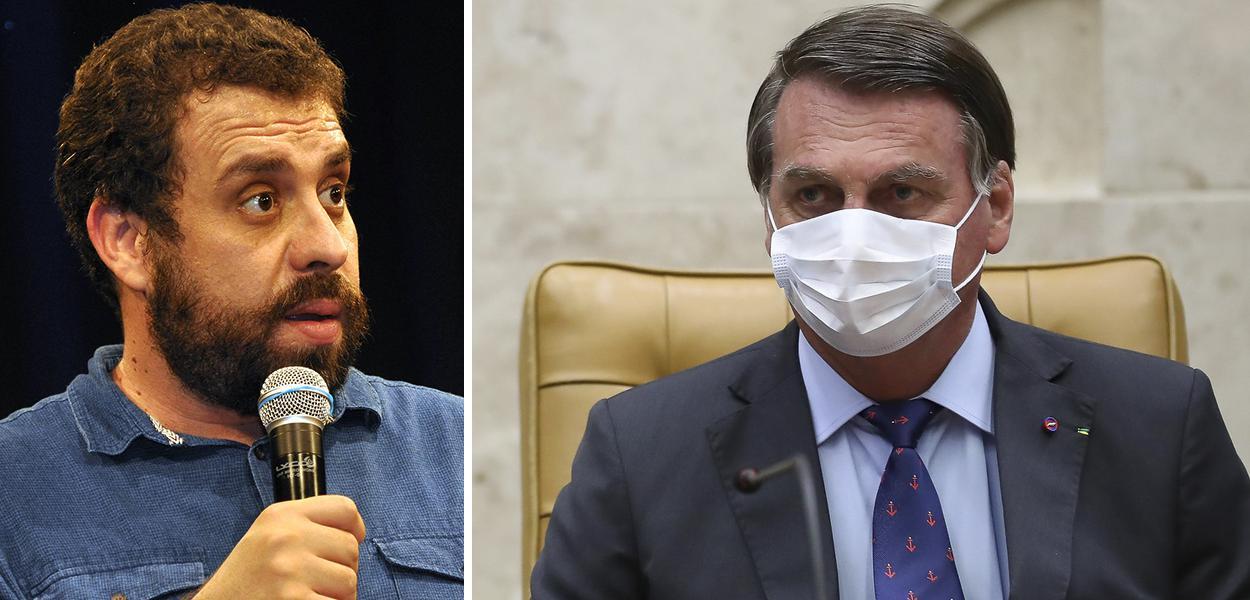 Guilherme Boulos e Jair Bolsonaro