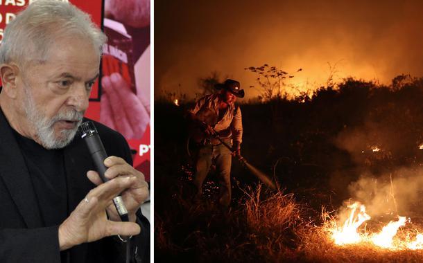 Lula e Pantanal em chamas