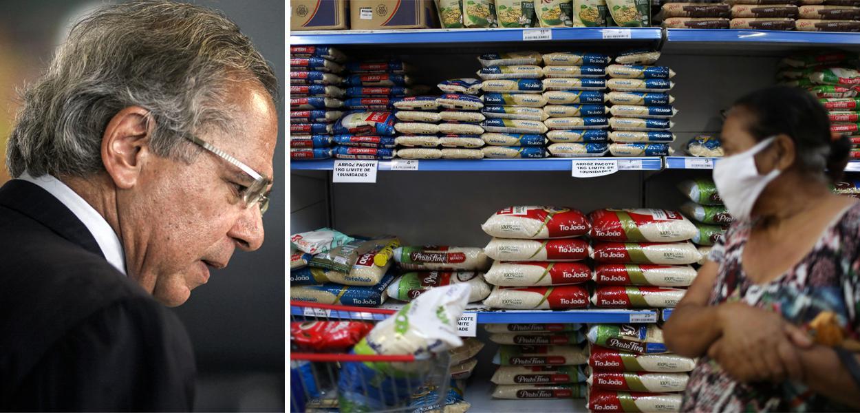 Guedes / arroz nos supermercados