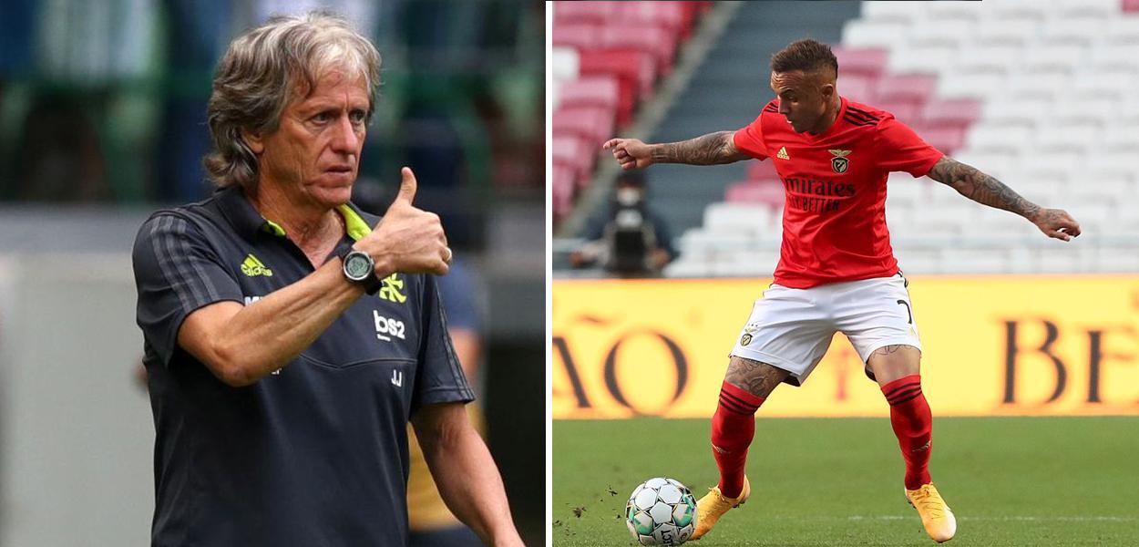Jorge Jesus e Everton Cebolinha