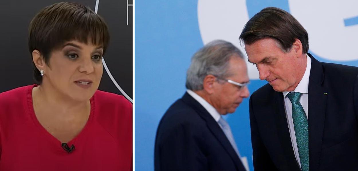 Vera Magalhães, Paulo Guedes e Jair Bolsonaro