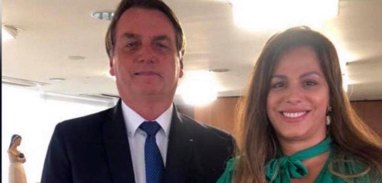 Jair Bolsonaro e Edianne Paulo de Abreu
