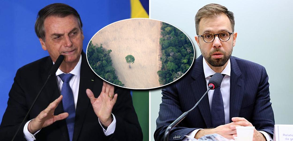 Jair Bolsonaro e Baskut Tunkat, responsável pelos temas de resíduos tóxicos e direitos humanos da ONU