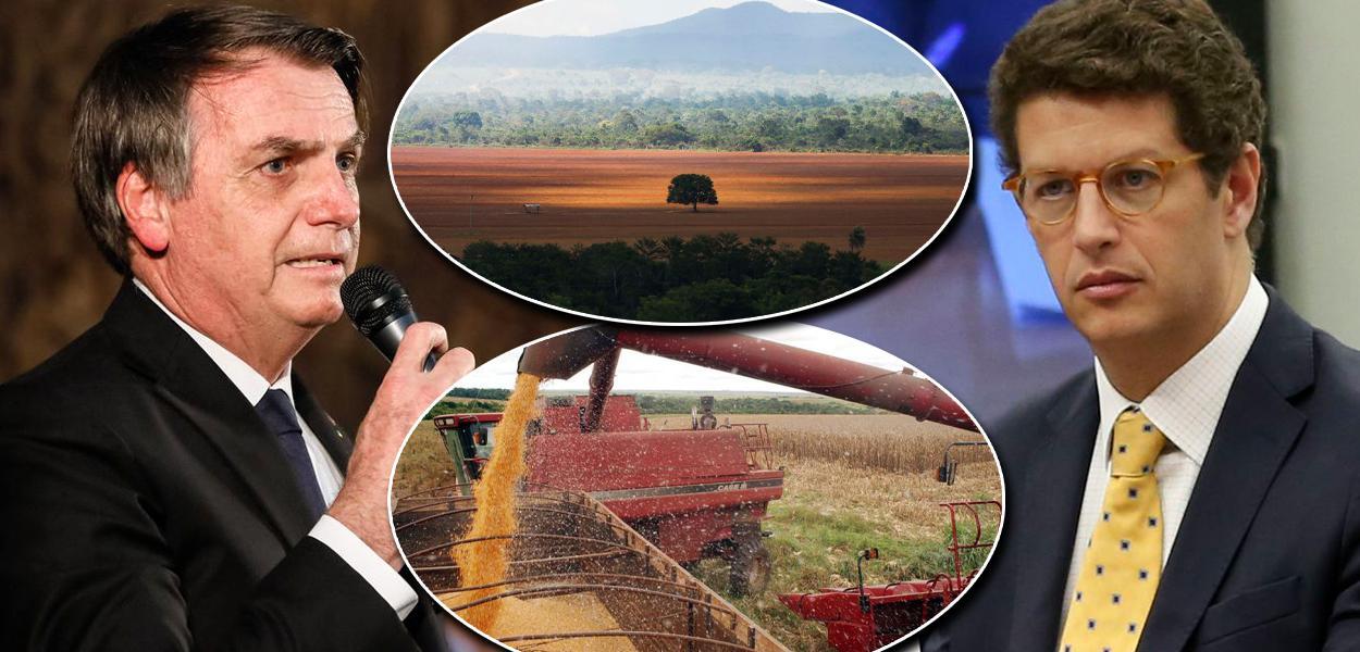 Jair Bolsonaro e o ministro do Meio Ambiente, Ricardo Salles