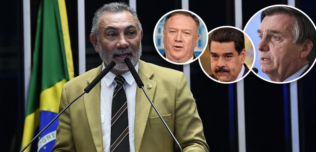 Telmário Mota, Mike Pompeo, Nicolás Maduro e Jair Bolsonaro