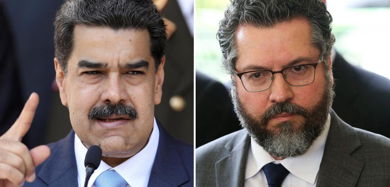 Nicolás Maduro e Ernesto Araújo