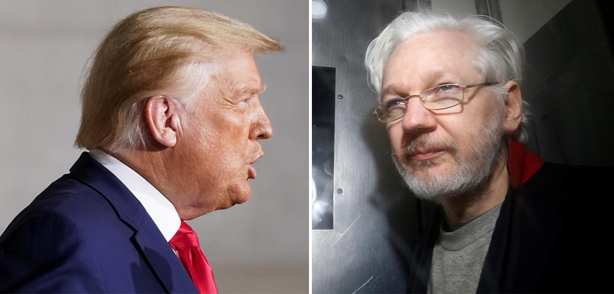 Donald Trump e Julian Assange