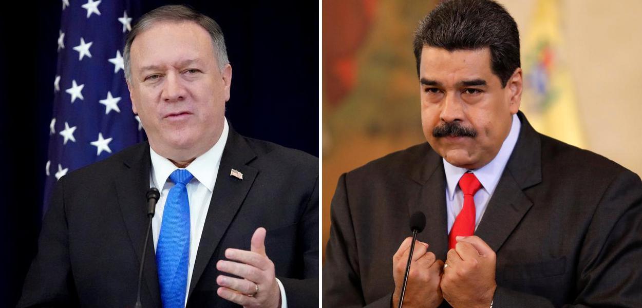 Mike Pompeo e Nicolás Maduro
