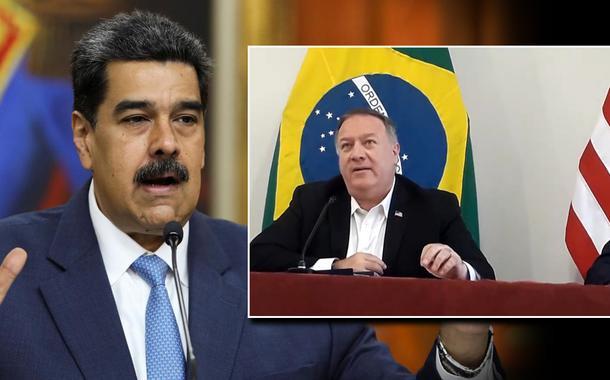 Nicolas Maduro, Mike Pompeo e Ernesto Araújo