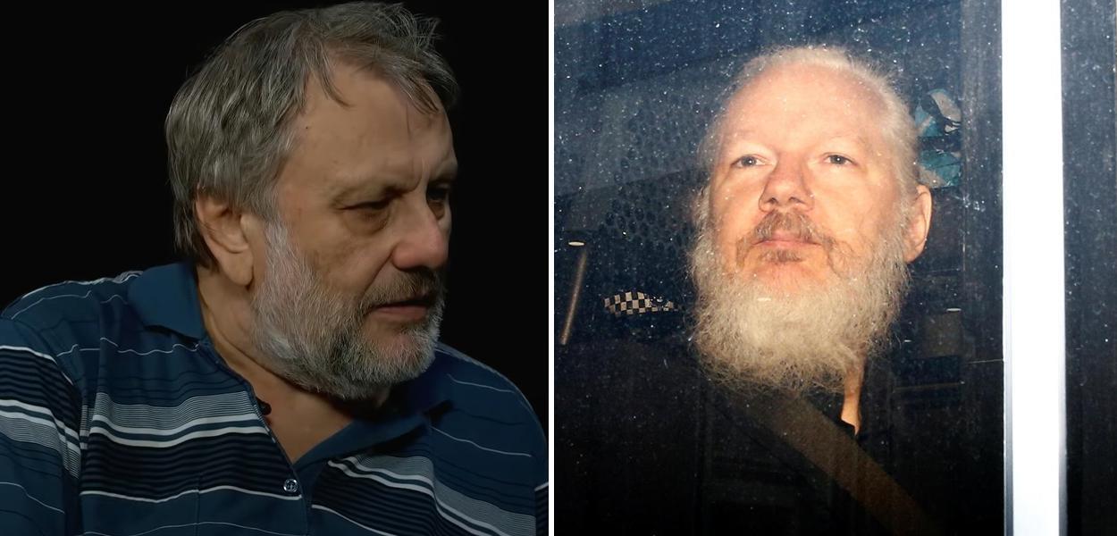 Slavoj Zizek e Julian Assange