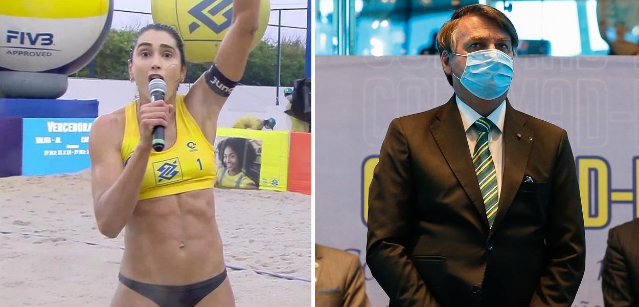 Carol Solberg e Jair Bolsonaro