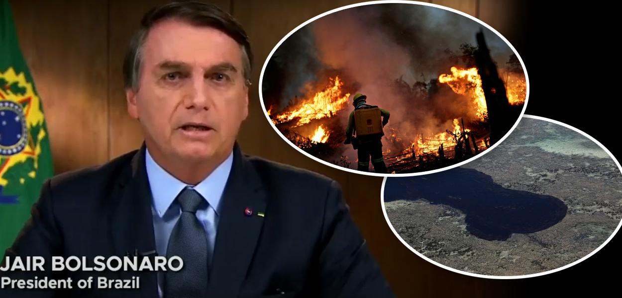 Jair Bolsonaro, Pantanal em chamas e óleo no Nordeste