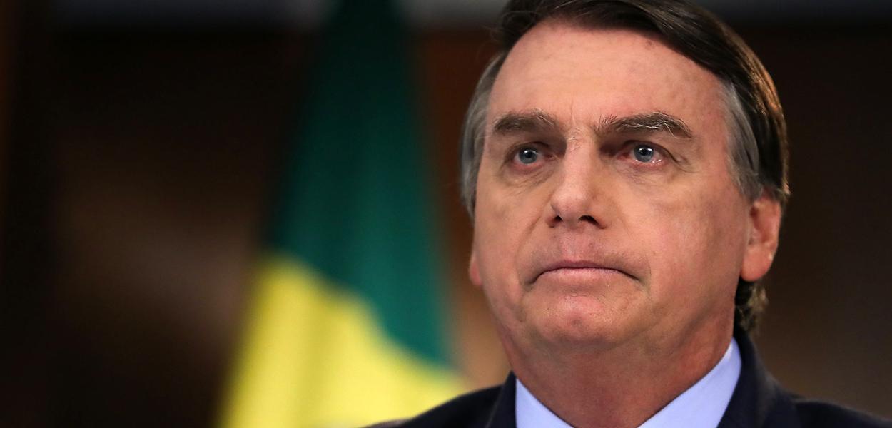 Presidente da República Jair Bolsonaro, durante gravação de discurso para a 75ª Assembleia Geral da ONU. 22 de setembro de 2020