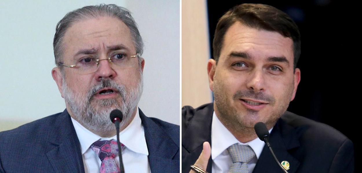 Augusto Aras e Flávio Bolsonaro