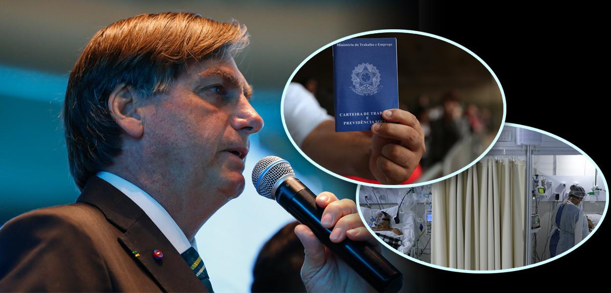 Jair Bolsonaro, carteira de trabalho e doentes por Covid-19
