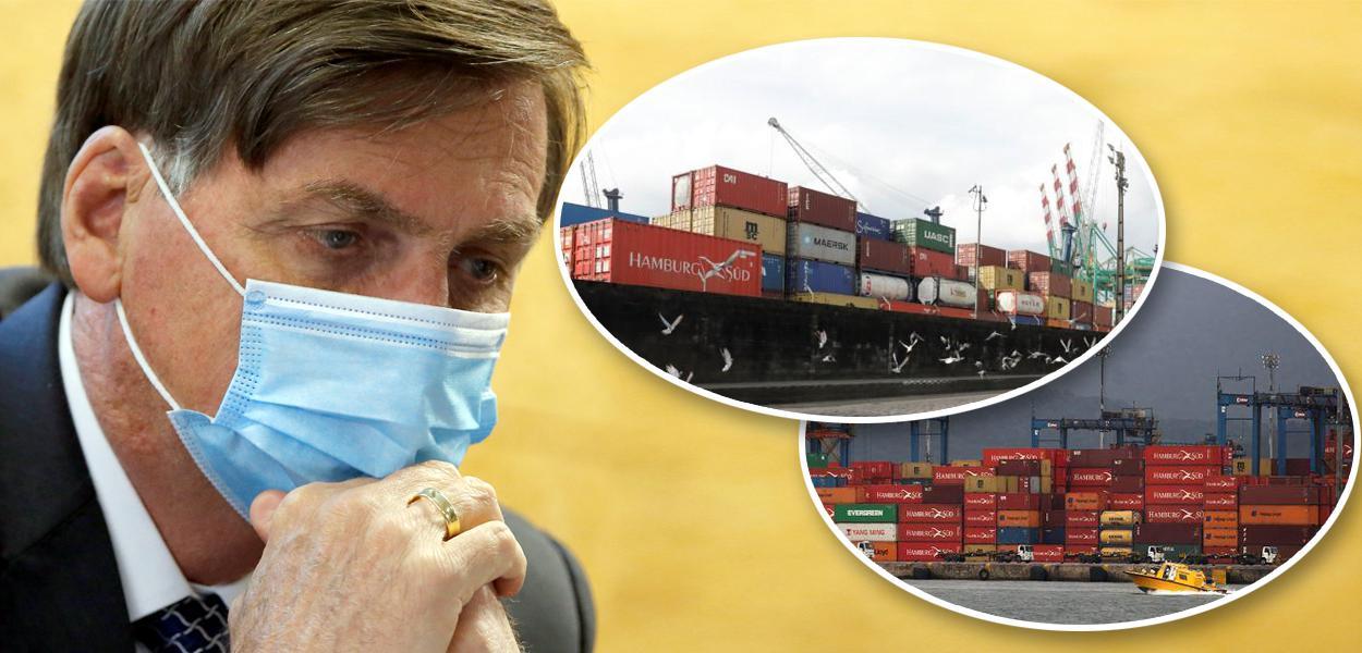Jair Bolsonaro e porto de Santos