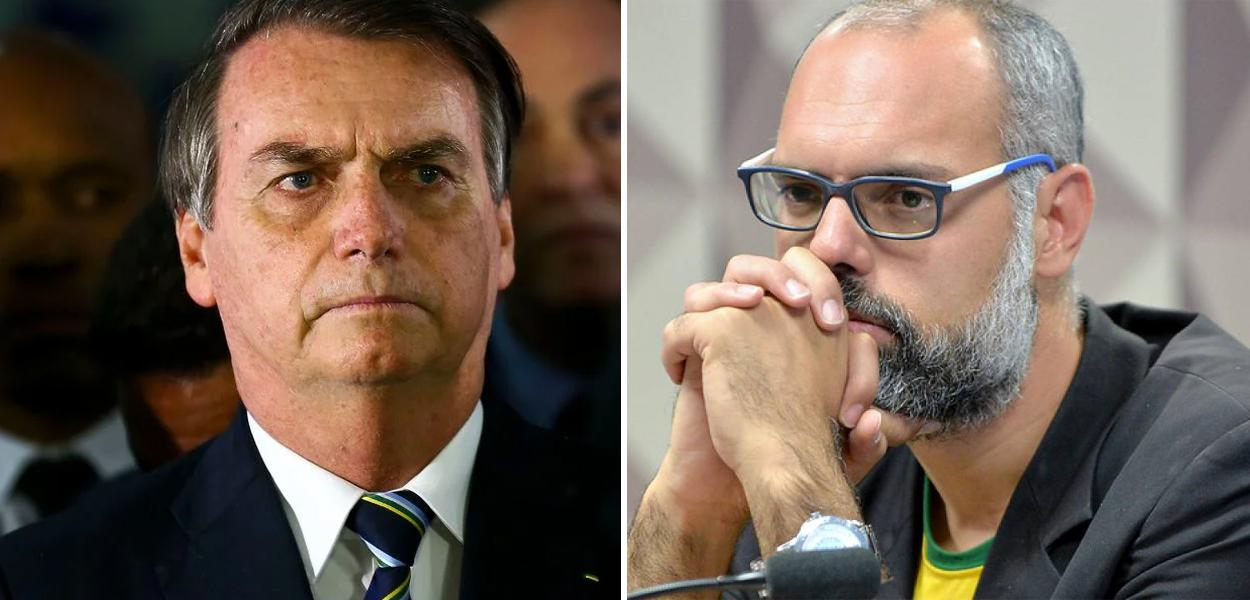 Allan dos Santos e Jair Bolsonaro