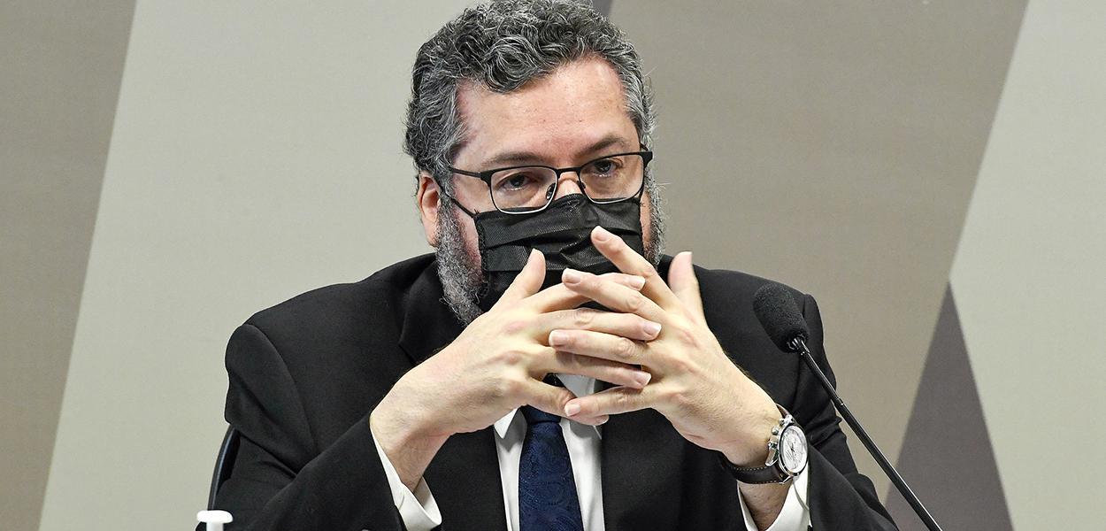 Chanceler Ernesto Araújo na Comissão de Relações Exteriores e Defesa Nacional. 24 de setembro de 2020