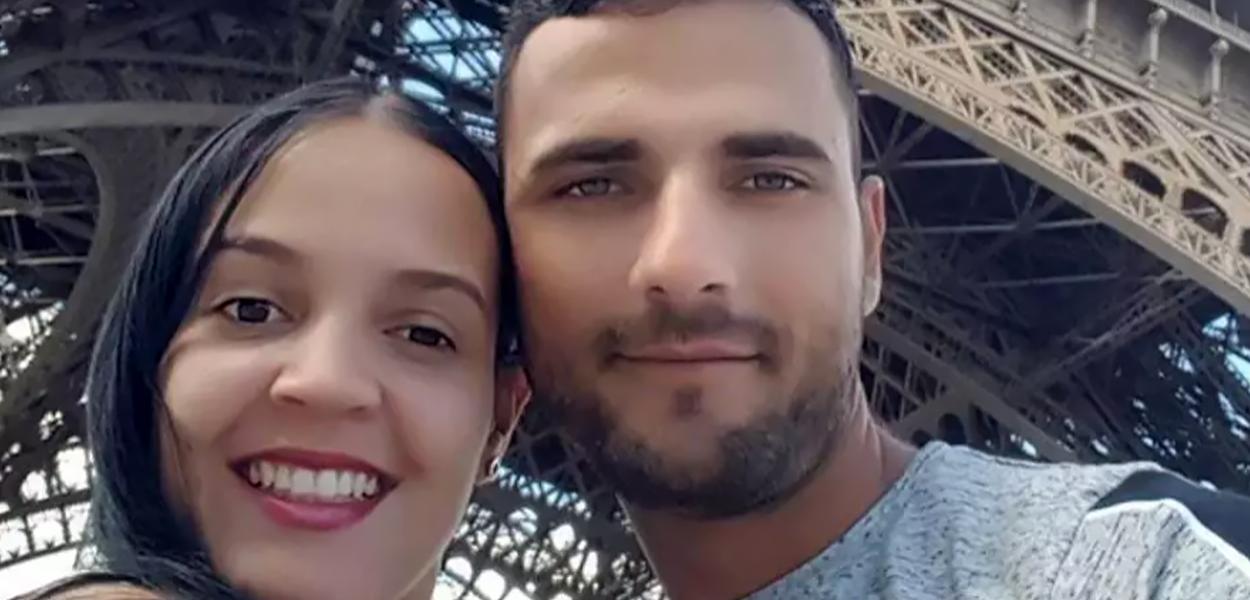 Imagem do casal Franciele Alves e Rodrigo Martin publicada pelo paranaense nas redes sociais.
