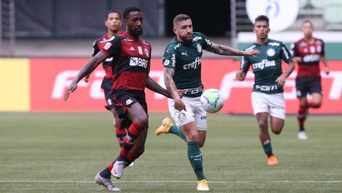 Jogo entre Palmeiras e Flamengo