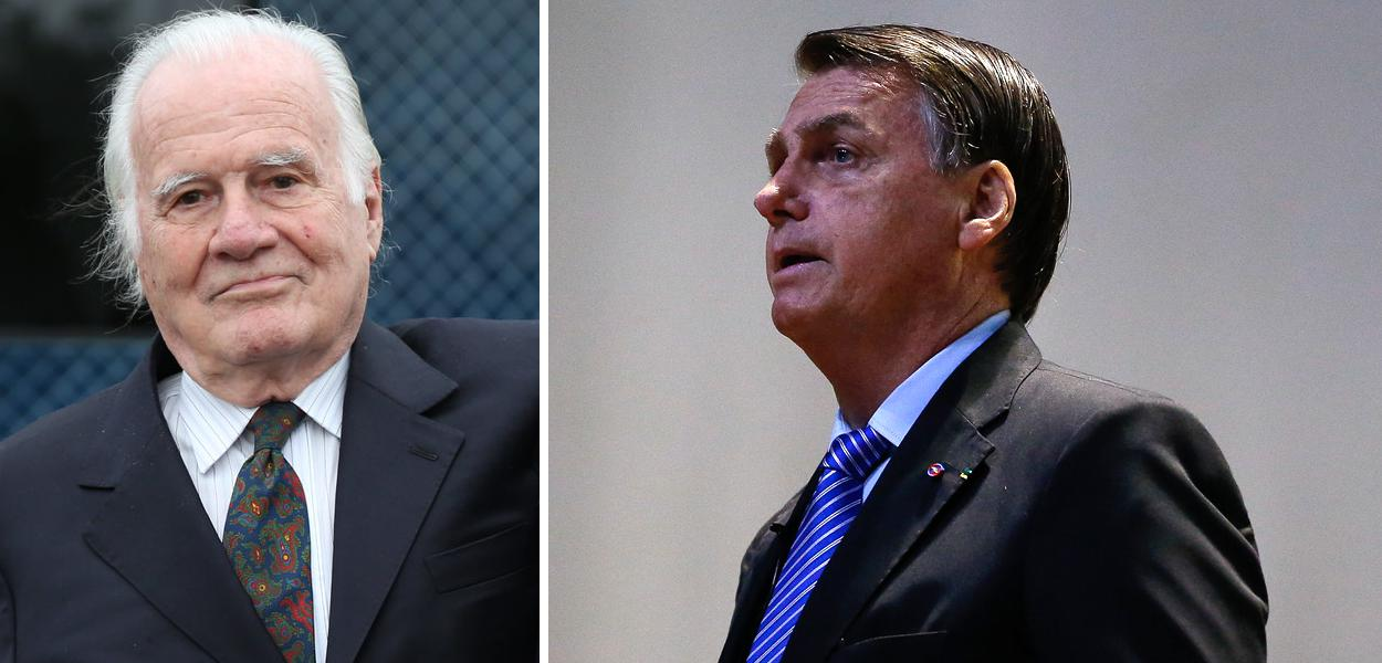 Mino Carta e Jair Bolsonaro