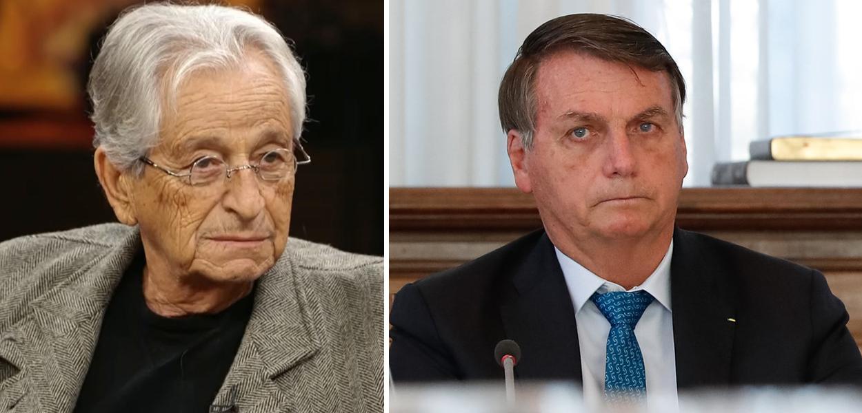 Jornalista Fernando Gabeira e Jair Bolsonaro
