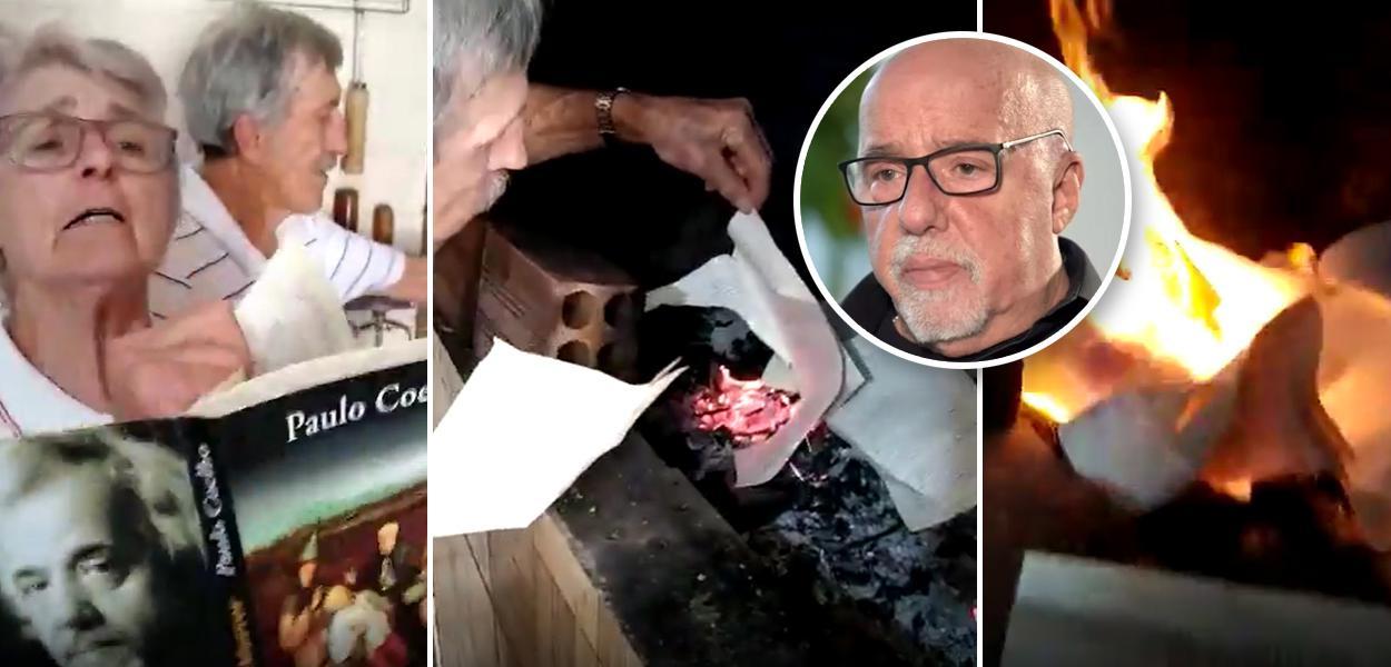 Bolsonaristas queimam livros de Paulo Coelho
