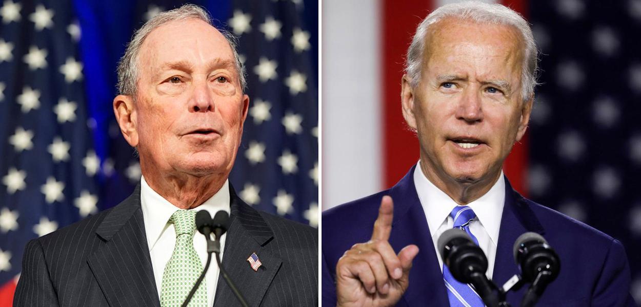 Michael Bloomberg e Joe Biden