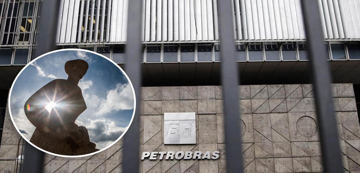 Fachada do STF e Petrobras
