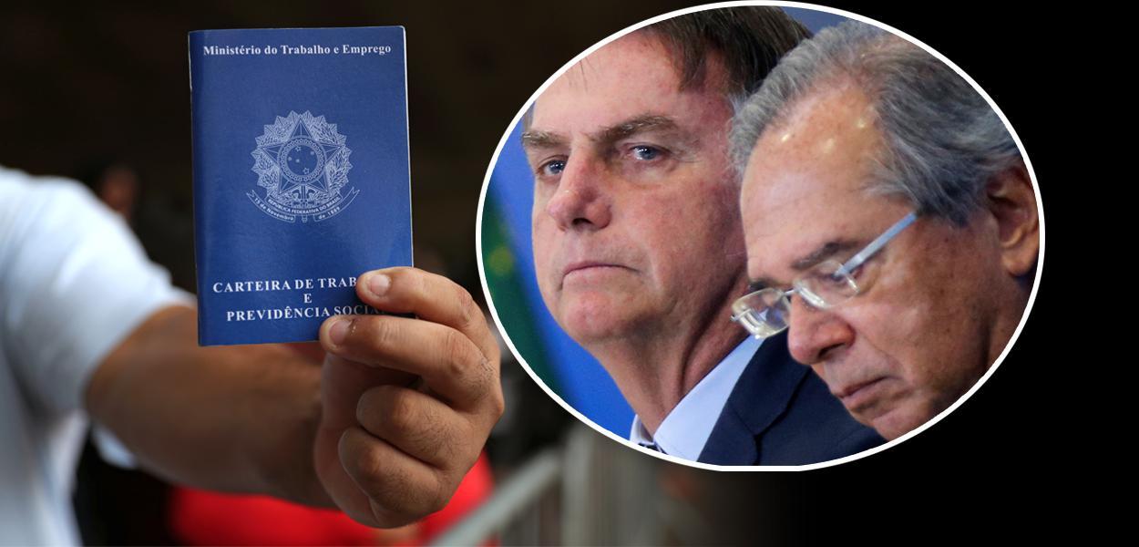 Carteira de trabalho, Bolsonaro com Paulo Guedes