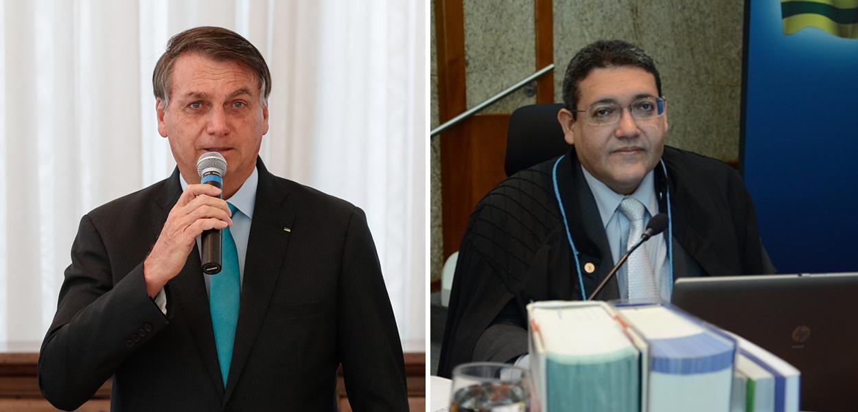 Jair Bolsonaro e Kássio Nunes