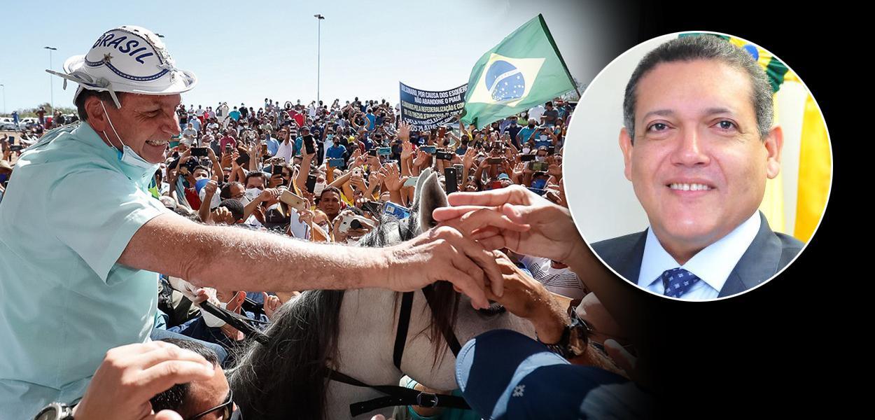 Jair Bolsonaro e Kassio Nunes STF