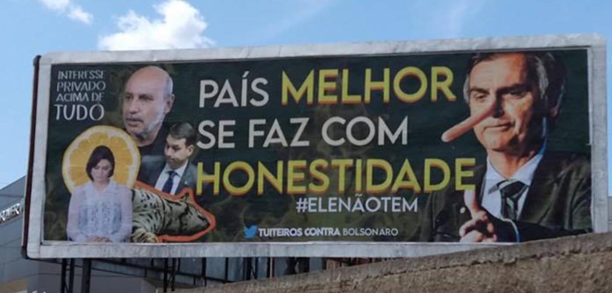 Dois outdoors contra Jair Bolsonaro são inaugurados no Piauí
