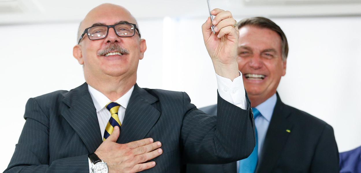 Milton Ribeiro e Jair Bolsonaro