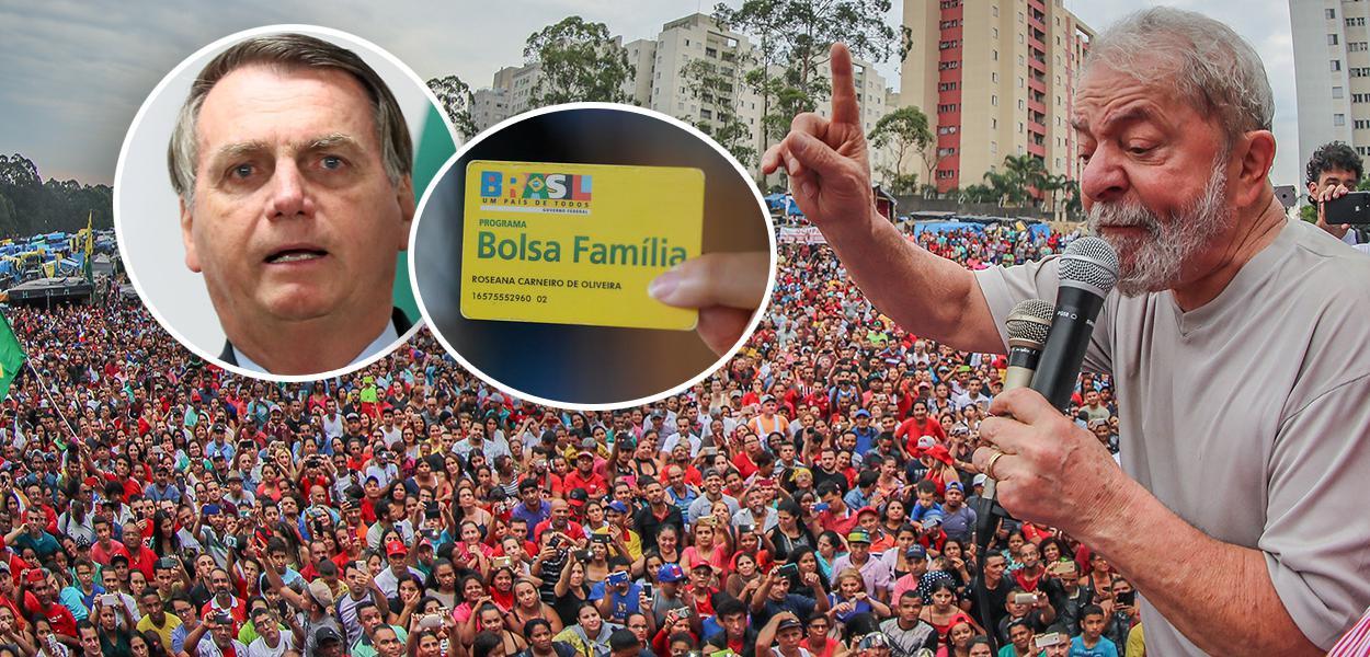 Bolsonaro, cartão do Bolsa Família e Lula