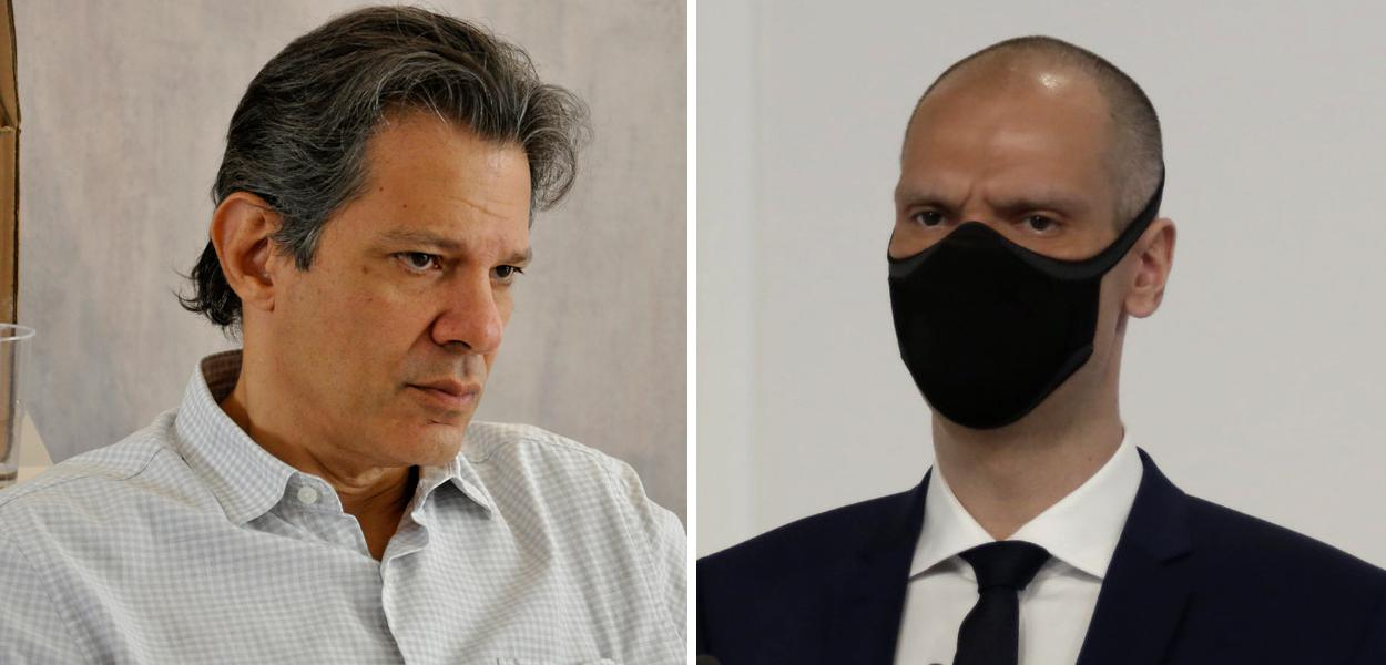 Fernando Haddad e Bruno Covas
