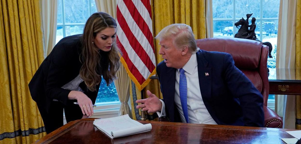 Hope Hicks e Donald Trump